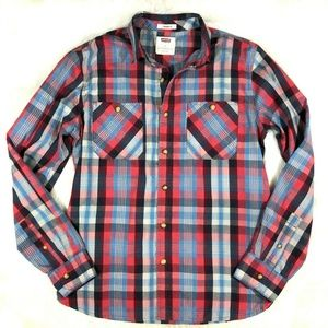 Levi's Standard Fit Plaid Button Front Shirt